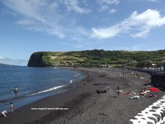 Praia do Almoxarife in Faial, #Azores. It's a beautiful setting with a nice village and a gorgeous view of Pico