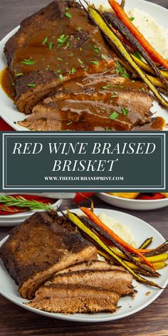 Learn how to slow braise beef brisket in the oven for a tender, delicious brisket dinner. Tons of tips and tricks to make it perfect every time! #theflourhandprint #beefbrisket #braisedbrisket #winebraisedbeef #redwinebraisedbeef #beefdinnerrecipes Best Beef Recipes, Beef Recipes For Dinner, Meat Recipes, Real Food Recipes, Holiday Recipes, Healthy Breakfast Recipes, Easy Healthy Recipes, Dinner Dishes, Main Dishes