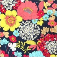 Vera Bradley fabric Remnant 100% Cotton Happy Snails 1 Yard