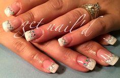 Lace nails, French tip, sparkle nails, kelowna nails, gel nails, nails