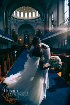 Beautiful #NavalAcademy Wedding held in the USNA Chapel | photography from D Bryant Photography.