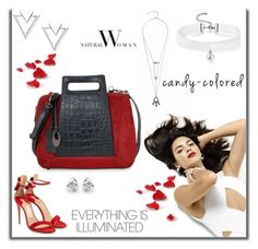 """Striking Red"" by phiveriversuk ❤ liked on Polyvore featuring Salvatore Ferragamo, Nadri and Georgini"