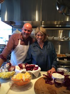 Martha Stewart and chef Pierre busy cooking up a storm over Thanksgiving, such a great picture! Great Pictures, Martha Stewart, Ps, Thanksgiving, Events, Cooking, Food, Kitchen, Thanksgiving Tree