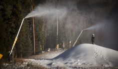 A evening of snowmaking