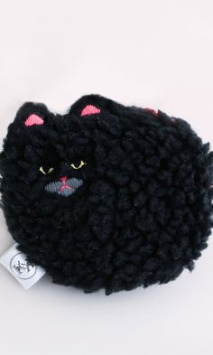 Small Fluffy cat pouch #cat