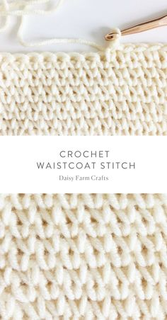 How to crochet the waistcoat stitch - #crochet