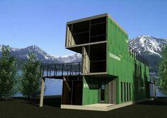 Découvrez notre sélection de maisons container #maison #container #vert http://www.novoceram.fr/blog/architecture/construction-maison-container