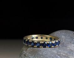 Celtic Ring - Eternity Ring - Sapphire Ring - Blue gemstone ring - Gold Ring - Something blue - promise - pattern - sapphire - gothic - gift Sapphire Eternity Ring, Gold Sapphire Ring, Sapphire Jewelry, Eternity Rings, Gold Rings, Gemstone Rings, Celtic Rings, Blue Gemstones, Natural Sapphire