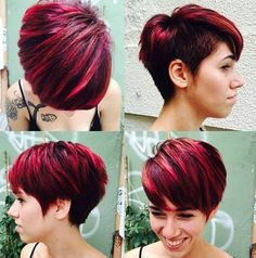 short choppy haircut with side undercut