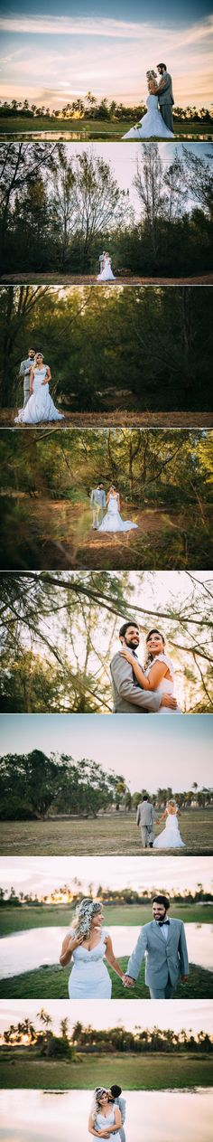 ensaio trash the dress no campo. ideias de ensaio após o casamento.