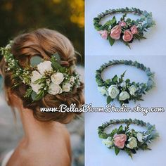 Succulent Crown Greenery Crown Eucalyptus crown Adult flower crown Cream Flower crown Succulent Succulent Bridal Halo Etsy This floral crown Cream Flowers, Silk Flowers, Floral Flowers, Bridal Hair Vine, Wedding Headband, Hair Wedding, Bridal Updo, Bridal Crown, Bridesmaid Headpiece