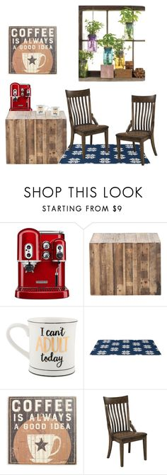 """""""comfy kitchen"""" by thetonangelique ❤ liked on Polyvore featuring interior, interiors, interior design, home, home decor, interior decorating, KitchenAid, Primitives By Kathy, DutchCrafters and Modern Sprout"""
