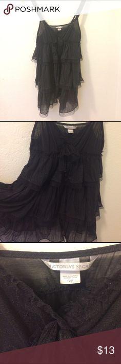 Victoria's Secret Nighty Black sparkly Victoria's Secret Nighty. Lucky brand tank. Black pea coat bundle for Megan. Victoria's Secret Intimates & Sleepwear Chemises & Slips