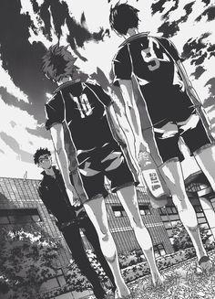 Image about manga in Haikyuu! Manga Haikyuu, Haikyuu Karasuno, Kagehina, Hinata, Manga Art, Manga Anime, Haruichi Furudate, Haikyuu Wallpaper, Black And White Aesthetic