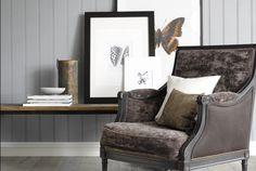 Smartpanel Struktur Skygge Dempet Blå Decor, Furniture, Accent Chairs, Color, Chair, Home Decor
