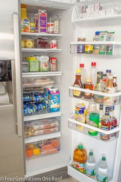 Our Organization Refrigerator Makeover - How to get organized in your refrigerator - Four Generations One Roof
