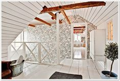 """Check out our internet site for even more relevant information on """"home renovation ideas"""". It is actually a superb location for more information. Home Interior, Interior Architecture, Interior Design, Attic Bedrooms, Tiny Cabins, Attic Spaces, Cozy Cottage, House Goals, White Wood"""