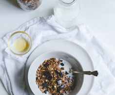 Coconut Granola with Dark Chocolate and Seeds
