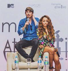 #TVD The Vampire Diaries  Ian Somerhalder(Damon) & Kat Graham(Bonnie)