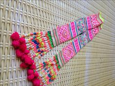 Vintage Hmong Ethnic Handmade embroidery straps delicate cross Stitch Hilltribe craft supplies by KutchiKooTribe on Etsy