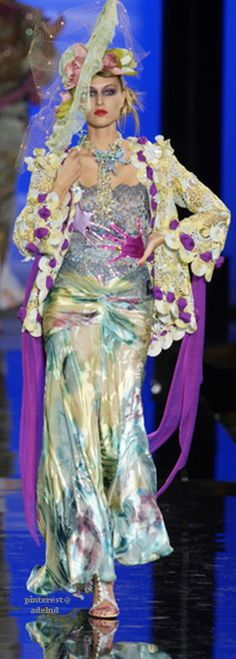 Emanuel Ungaro Spring 2003 Couture. Admired by FalconFabrics.com.au
