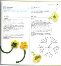 from 75 birds, butterflies & little beasts to knit and crochet Crochet Flower Tutorial, Form Crochet, Crochet Flower Patterns, Crochet Diagram, Crochet Art, Crochet Motif, Irish Crochet, Crochet Designs, Crochet Crafts