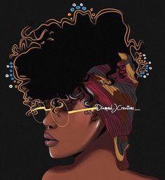 'Black Girl Magic ' Canvas Print by Diamondjae Black Girl Art, Black Women Art, Black Girls Rock, Black Girl Magic, Art Girl, Black Girl Tattoo, Black Girl Quotes, African American Art, African Art
