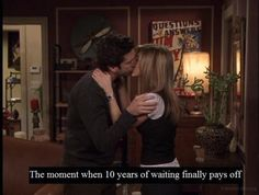 Ross and Rachel awww.♥ He's loved her since high school... #perfectromance