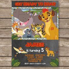 Lion Guard, Lion Guard Invitation, Lion Guard Birthday, Lion King, Disney Invitation, Lion Guard Themed Party by PartyGiraffe on Etsy https://www.etsy.com/listing/274792312/lion-guard-lion-guard-invitation-lion
