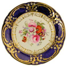 Chamberlains Worcester Cabinet Plate For Sale