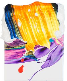 """""""artist Yago Hortal drips, smears, and splashes layers of acrylic paint onto canvas to create these abstract expressionistic works of art...Hortal's work seems like a great balance of cerebral, emotional and physical discharge..."""""""