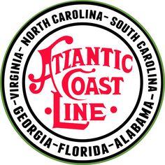 "Atlantic Coast Line Route Railway Sign, 14"" Aluminum Metal Sign, USA Made Vintage Style Retro Home Decor Garage Art RG463 by HomeDecorGarageArt on Etsy"