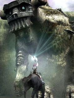 Crash, Foss et les colosses de Fumito Ueda - ShigePékin Shadow Of The Colossus, Science Fiction, Classic Video Games, Video Game Art, Cosplay, Fantasy Creatures, Best Games, Illustration, Fantasy Art