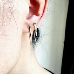 Det'nlarsens billede. Fine Jewelry, Jewellery, Minimalist Jewelry, Charlotte, Earrings, Fashion, Ear Rings, Jewelery, Jewelry Shop