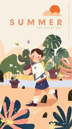 虾米音乐皮肤|UI|主题/皮肤|饭太稀Fan - 原创作品 - 站酷 (ZCOOL) Flat Design Illustration, People Illustration, Children's Book Illustration, Character Illustration, Illustrations And Posters, Cartoon Art, Cute Drawings, Cute Art, Bugaboo