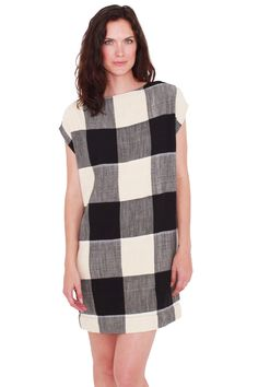 ace&jig fall13 harbour dress in domino at Honey in the Rough