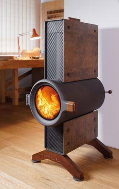 Fire Pit Heater, Rocket Heater, Stove Heater, Rocket Stoves, Rocket Stove Design, Smoker Cooker, Tiny Wood Stove, Modern Stoves, Backyard Fireplace