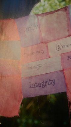 """""""Serenity, regularity, Absence of Vanity, Sincerity, Simplicity, Veracity, Equanimity, Fixity, Non-irritability, Adaptability,Humility, Tenacity, Integrity, Nobility, Magnanimity, Charity, Generosity, Purity"""
