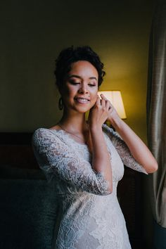Bohemian lace wedding dress is perfect for the free-spirited bride!   Styling by Nulyweds, Photo by Anne Schwarz, Dress by Claire Pettibone at Blackburn Bridal,