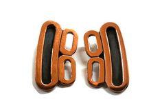 Renoir Copper Modernist Clip Earrings by TrendyTreasures1 on Etsy
