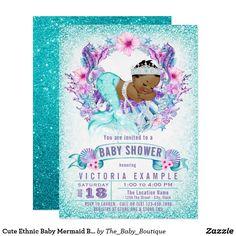 65 best mermaid baby shower invitations ideas images on pinterest in cute ethnic baby mermaid baby shower invitation filmwisefo