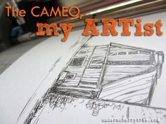 The Cameo, my ARTist : How to draw sketches with the Silhouette Cameo using a Sharpie liquid mechanical pencil