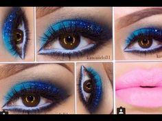 Tutorial de maquillaje: Azul claro y plateado - Juancarlos960 - YouTube