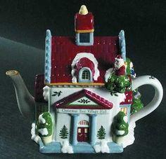 Bule de chá de Natal