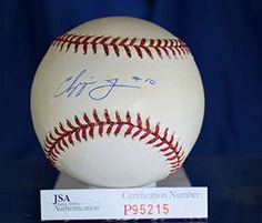 CHIPPER JONES EARLY 10 JSA HAND SIGNED NATIONAL LEAGUE AUTOGRAPH BASEBALL AUTHENTIC >>> Click image for more details. (Note:Amazon affiliate link)
