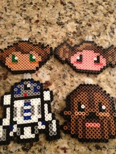 Star Wars ChibiStyle Perler Ornaments by JiddlerIncorporated