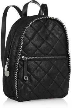 75e835e72 Stella McCartney backpack. Its fauxleather, sparkly,quilted with a chain  design. Stella