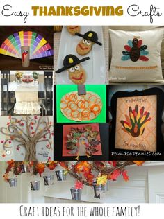 Easy Thanksgiving Crafts for the whole family!  I love these!  #thanksgiving #crafts