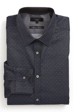 Ted Baker London Trim Fit Dress Shirt available at #Nordstrom (AA)