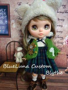 BlueLuna Custom Blythe  Buy her here:   #blythe #blythedolls #kawaii #cute #rinkya #japan #collectibles #neoblythe #customblythe